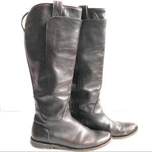 FRYE Paige tall brown leather riding boot, size 6